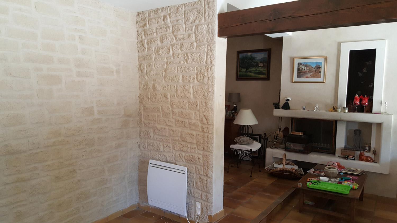 Mur En Pierre Interieur Beige ravalement de façade intérieur en crépi pierre - caumont